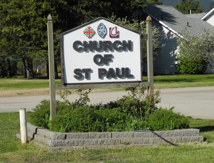 Church of St Paul sign