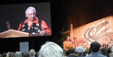 Justice Murray Sinclair giving closing remarks at the Closing Ceremonies of the TRC National Event on September 21st.