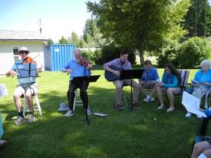 Lorne, Glenn, and Ben leading the singing