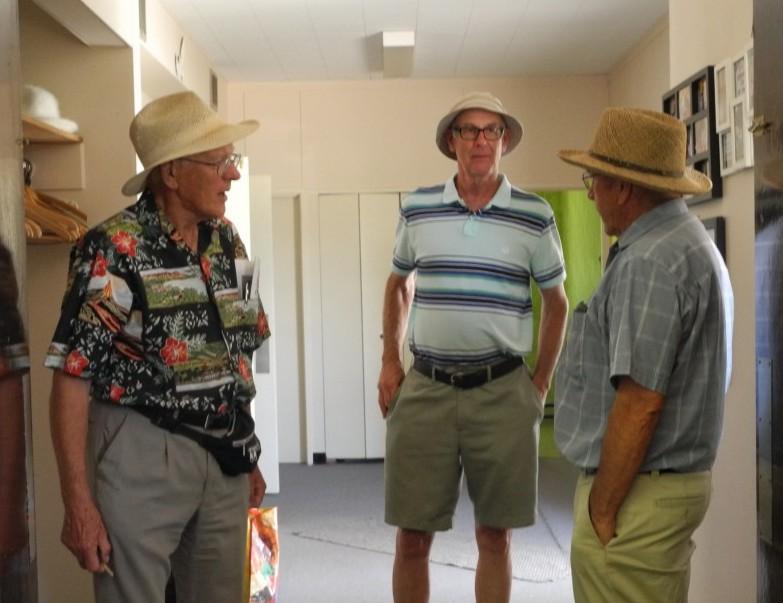 Mel, Lorne, and Robert conversing