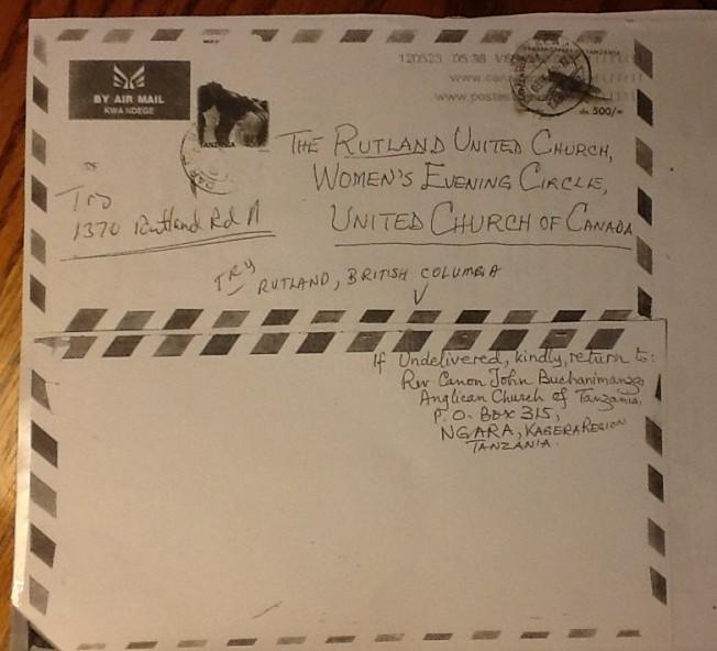 Rutland UC Tanzania envelope