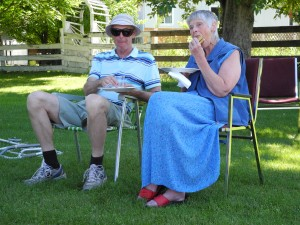 Joanne and Lorne enjoying lunch.