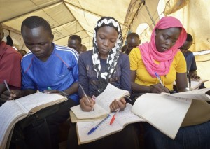 With two full meals a day, students like these in South Sudan will be able to focus on their studies rather than their empty bellies. Photo: ACT/Paul Jeffrey