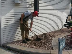 Bert preparing the ground