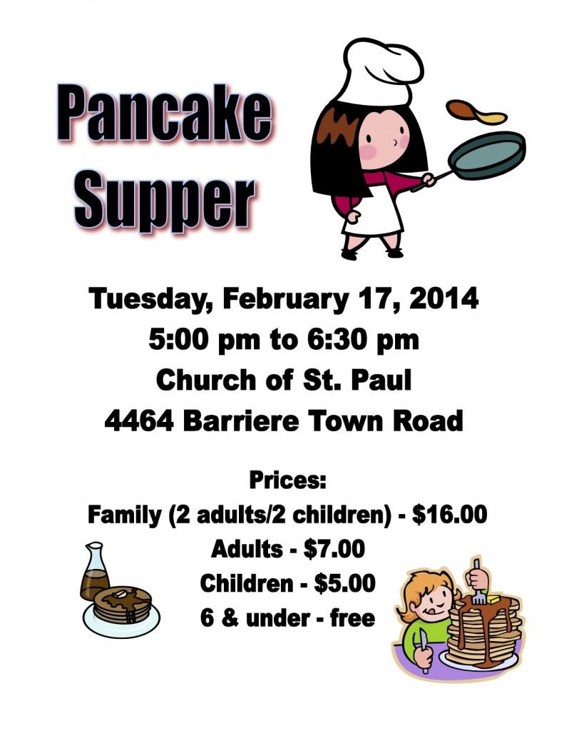Pancake Supper Poster