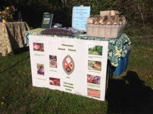 Clearwater United Church's Fair Trade Coffee Booth at the Farmers' Market