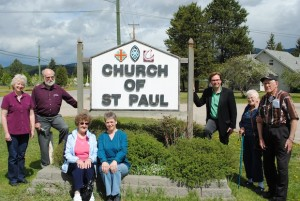 Laura-Ann Farquharson, Glenn Andrews, Betty Uppenborn, Leslie Stirling, the Rev. Brian Krushel, Thelma Schmidt and Mel Schmidt are all members of the Church of St Paul, an ecumenical shared ministry in Barriere, BC.