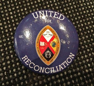 TRC united for reconciliation button