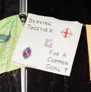 Church of St Paul's Prayer Flag at GC40 in Kelowna
