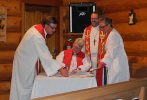 Bishop Barbara signing