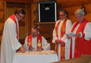 Bishop Greg signing