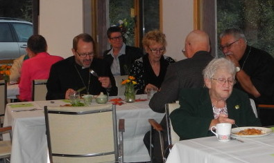 Bishop Greg, LeAnn, Rick's wife, Dean of Cathedral, Thelma, Rick