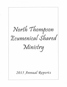 2015 NTESM Annual Reports title page