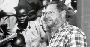 Bishop Cruickshank speaking at General Synod 1995. Photo courtesy General Synod Archives
