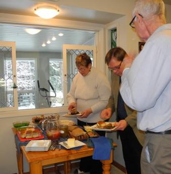 TSM ACM 2016 Abigail, Brian, Lorne at the buffet