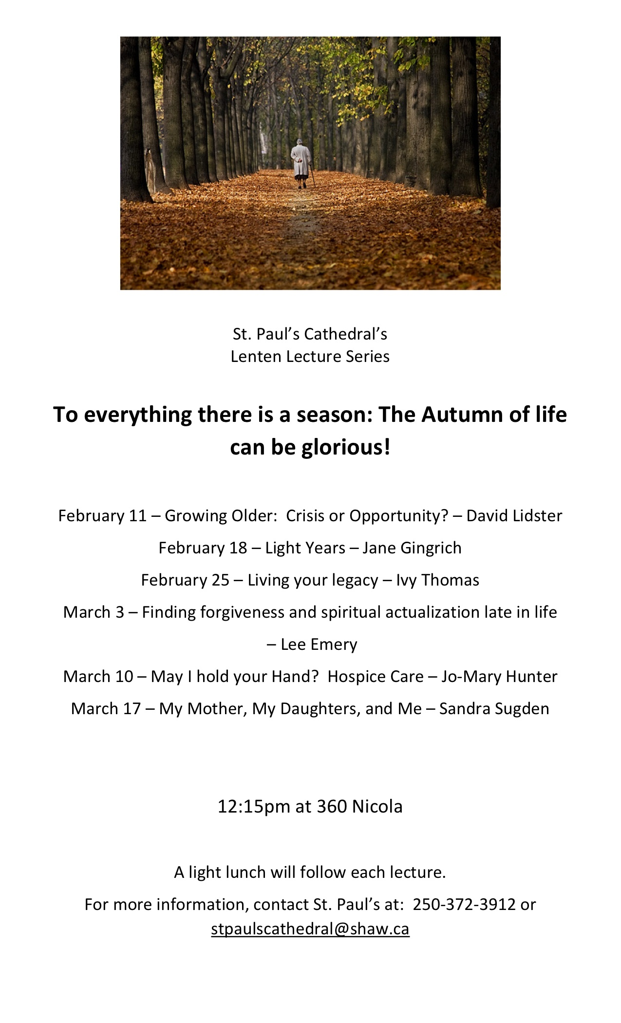 Lenten Lectures Poster 2016