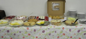 Mmmm - for some, the best part - the dessert table!