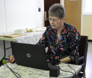 NTESM Leslie S at computer