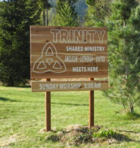Trinity Shared Ministry sign