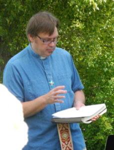 Pastor Brian reading reflection dialogue.